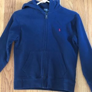 Polo boy's hooded sweat shirt with zipper